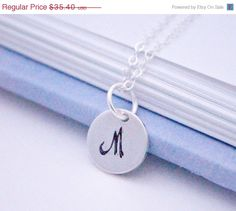 HOLIDAY SALE Personalized Birthstone initial necklace by INAYAAZ