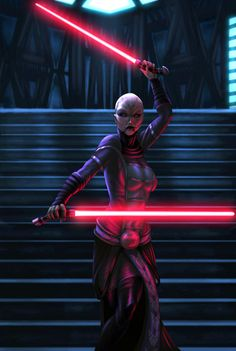 Ventress battle piece by ~vic55b