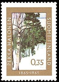 Centenary of the birth of the artist Pekka Halonen, Finland 1965
