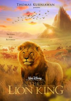 "Thomas Kurniawan's Portfolio: Disney Movie Poster Artwork ""The Lion King"""
