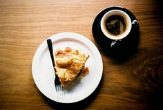 Pie and coffee. #food
