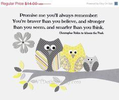 Nursery Art Decor Kids Wall Art Neutral Colors Owls by vtdesigns, $9.80