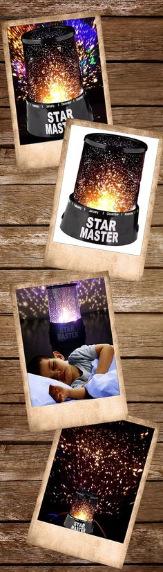 The Fantastic Star Master deploys projector techniques to show you the entire universe on your ceiling. Using just this and 3 AA batteries, you can enjoy an entire night under the stars. The star images are pre-installed and it shows approximately ten thousand stars. The colorful lights are combined with red, green and blue, with the main bulb being used to create the starlight. Star Master will surely impress the children and hopefully help settle them off to sleep each night.