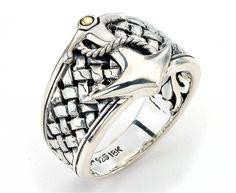 The Samuel B. Collection Imperial men's #anchor ring #mensjewelry @samuelbehnam