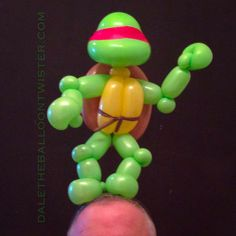 Teenage Mutant Ninja Turtle on a hairband (head inspired by Alberto Nava's distortion technique).