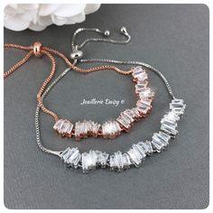 Bridal Party Jewelry, Prom Jewelry, Bridal Bracelet, Wedding Jewelry, Jewelry Gifts, Flower Girl Jewelry, Flower Girl Bracelets, Girls Jewelry, Rose Gold Jewelry