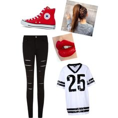 Sporty by augustbb on Polyvore featuring polyvore, fashion, style, DKNY, Converse and Charlotte Tilbury Teen Summer, Summer Fashion For Teens, Teen Fashion, Charlotte Tilbury, Polyvore Fashion, Converse, Sporty, Jackets, Style