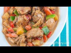 Pininyahang Manok sa Gata (Pineapple Chicken in Coconut Milk) - Panlasang Pinoy