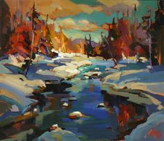 The river sing your words - by Christine Nadeau, acrylic painting, 20 x 24 at Artist Daily