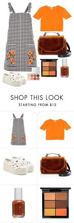 """Untitled #497"" by earthelglowing on Polyvore featuring Topshop, Hermès, Marc Jacobs, Maje, Essie and MAC Cosmetics"