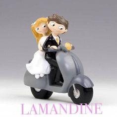 mariés scooter gris