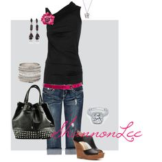 Black & Pink, created by shannonlee98