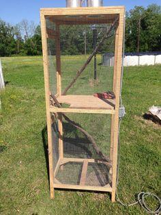 Custom Built Wood Wire Lizard Iguana Bird Cage Reptile Lighted | eBay