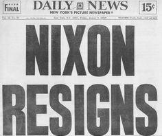 nixon resigns headline - Google Search
