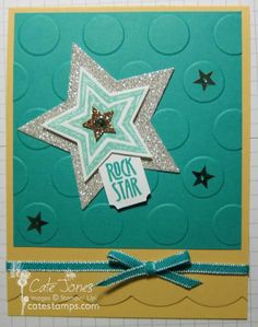 Bermuda Saffron Stars BB70 by Britbook70 - Cards and Paper Crafts at Splitcoaststampers