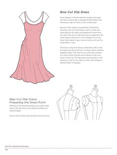 Teaches different methods of draping fabric on a dress form.