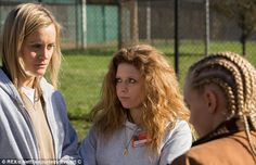 Taylor Schilling, Natasha Lyonne and Madeline Brewer in a July scene of the original Netflix series, Orange is the New Black. I adore this show and am now watching the first season for the third time. I find the characters to be fascinating and the acting is first rate.