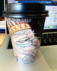Pretty coffee cups make early starts less dreary ☺️ 'Spiritseeker' by Rebecca Murphy ☕️❤️ Coffee Love, Coffee Cups, Cup Art, Mugs, Tableware, Pretty, Instagram Posts, How To Make, Coffee Mugs