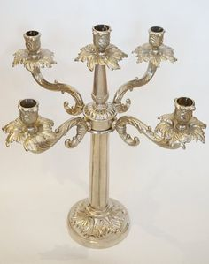 Large Ornate Metal Candelabra Victorian Design, Make Arrangements, Candelabra, Candle Holders, Unique Jewelry, Candles, Handmade Gifts, Metal, Vintage