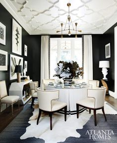 Atlanta Homes Sensational Style Black And White Dining Room Rooms Cream