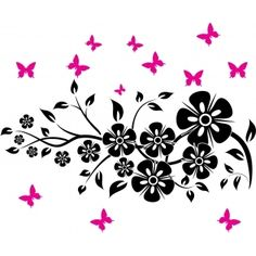 images about Flower Wall Stickers on Pinterest