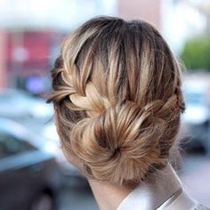 Cute Hairstyles: 10 Ideas You Can Copy in Under 10 Minutes - french braid low bun