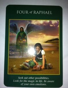 Archangel Power Tarot cards. Four of Raphael
