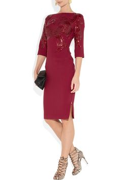 Beautiful wine color for the fall.  Notice the side zip? Adds a little touch of sexy to classy.