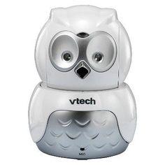 VTech Safe & Sound Owl Digital Video Baby Monitor with Pan & Tilt Camera VM344, Silver