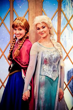 Anna and Elsa. I want a picture with them!!