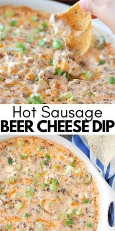 Hot Sausage Recipes, Sausage Appetizers, Sausage Dip, Tailgating Recipes, Tailgate Food, Barbecue Recipes, Easy Appetizer Recipes, Appetizer Ideas, Kitchen Recipes