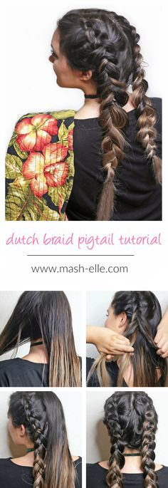 Learn how to create Dutch braid pigtails! Love this step-by-step tutorial!