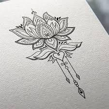 Resultado de imagem para desenho flor de lotus henna