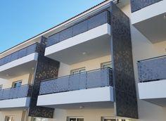 ΚΑΓΚΕΛΑ ΑΛΟΥΜΙΝΙΟΥ Aluminum perforated balustrades for balcony. Metalaxi Innovative Architectural Products. www.metalaxi.com Life is in the details. Stairs, Loft, Bed, Furniture, Home Decor, Stairway, Decoration Home, Staircases, Stream Bed