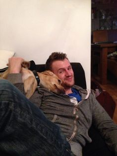Day 110 - Dan insists that there is strictly no dogs on the sofa