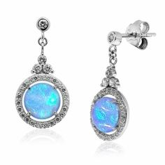 eeaf4277738a9 Blue Opal Drop Earrings