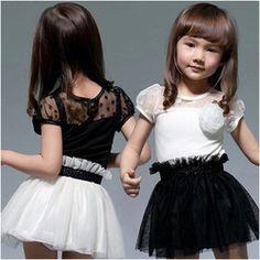 2014 Summer Fashion Corsage Girls Dress Baby Child Yarn One-piece Dress