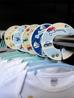 Baby Closet Dividers Clothing Organizers  Planes by potatopatch, $13.50