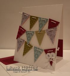 Stampin' Up!  Pennant Punch  Laura Haffke