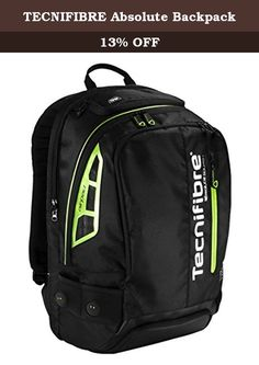 TECNIFIBRE Absolute Backpack. High quality, well padded backpack. Great for Squash, Racquetball, paddle sports. Black with Neon Green accents, looks awesome!.