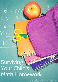 Math homework can be very frustrating! Here are some great tips helping with and surviving your child's math homework.