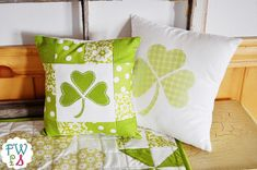 Fort Worth Fabric Studio: Lucky Shamrock Pillow {Tutorial}