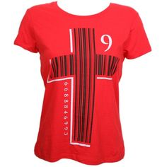 Tech N9ne - Red Barcode Cross Ladies T-Shirt