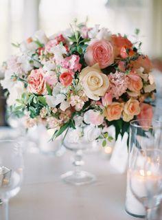 Lush centerpiece: http://www.stylemepretty.com/2014/09/16/romantic-hillside-wedding-in-san-clemente/ | Photography: Kurt Boomer - http://kurtboomer.com/