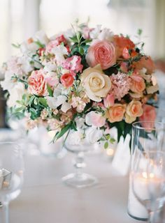 Lush centerpiece: http://www.stylemepretty.com/2014/09/16/romantic-hillside-wedding-in-san-clemente/ | Photography: Kurt Boomer - http://kurtboomer.com/