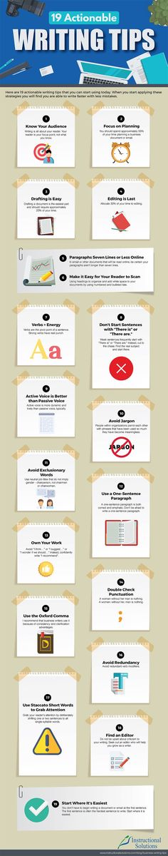 Writers Write shares writing resources and writing tips. In this infographic, we look at 19 actionable writing tips for business writers. Writing Advice, Writing Resources, Writing Skills, Writing Help, Business Writing, Business Quotes, Business Ideas, Digital Marketing Strategy, Content Marketing