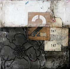 "ORIGINAL CANVAS - ""Industrial Marigold #1"" | Donna Downey Studios Inc"