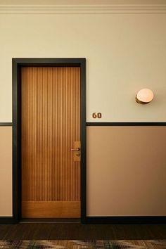 Bedroom Door Design, Hotel Room Design, Door Design Interior, Modern Interior Doors, Room Interior, Interior Ideas, Natural Interior, Luxury Interior, Exterior Design