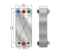 FHC110 air conditioner double circuit plate heat exchanger
