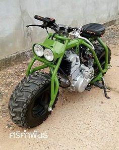 Mini Motorbike, Trike Motorcycle, Motorcycle Design, Bike Design, Custom Mini Bike, Custom Bikes, Scooters, Go Kart Frame, Diy Go Kart